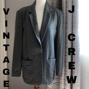 Vintage J. Crew Wool Boyfriend Blazer